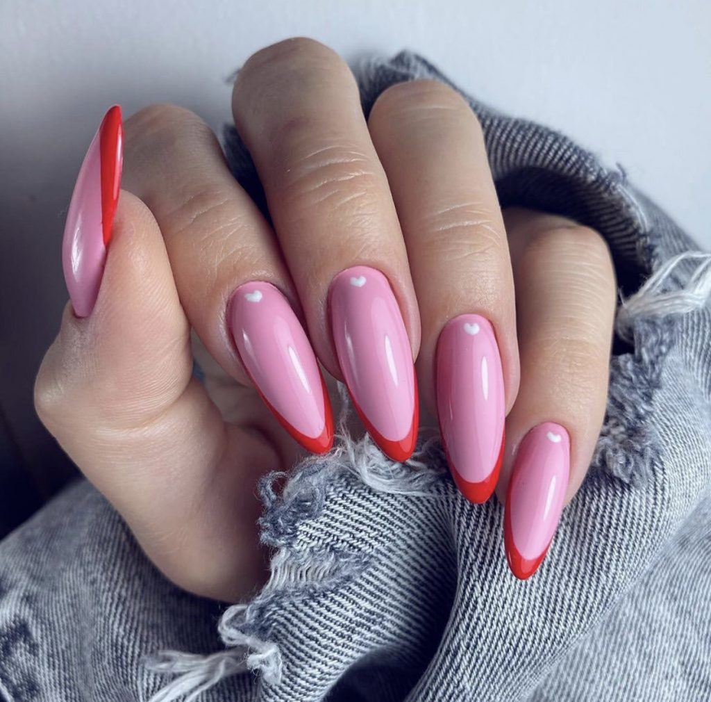 uñas para san valentin - Valentine's Day Nail Designs