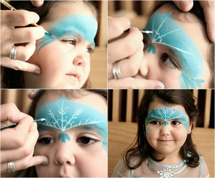maquillaje de frozen para niños