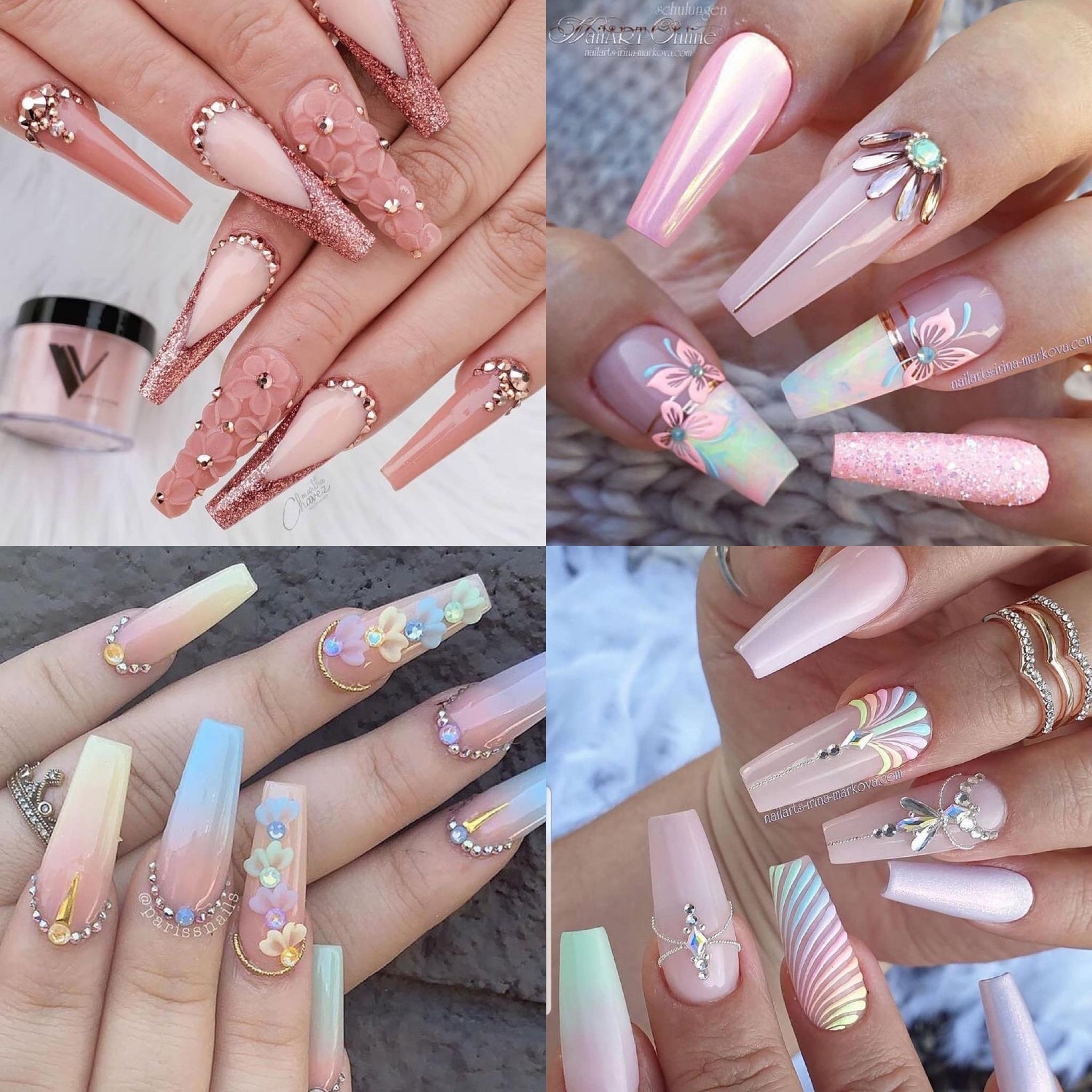 nailsart - decoracion de uñas con piedras -