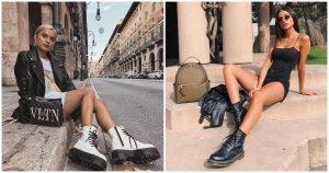 looks con botas militares dr marteen - botas plataforma altas - botas milicia -