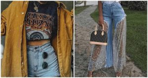 outfits con vaqueros - tendencia denim jeans