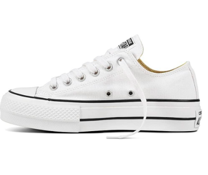 Converse blancas plataforma - converse mujer -Zapatillas para Mujer Converce blancas - converse suela altas