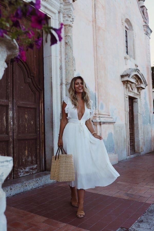 10 Vestidos de verano largos blancos - vestidos blancos de verano
