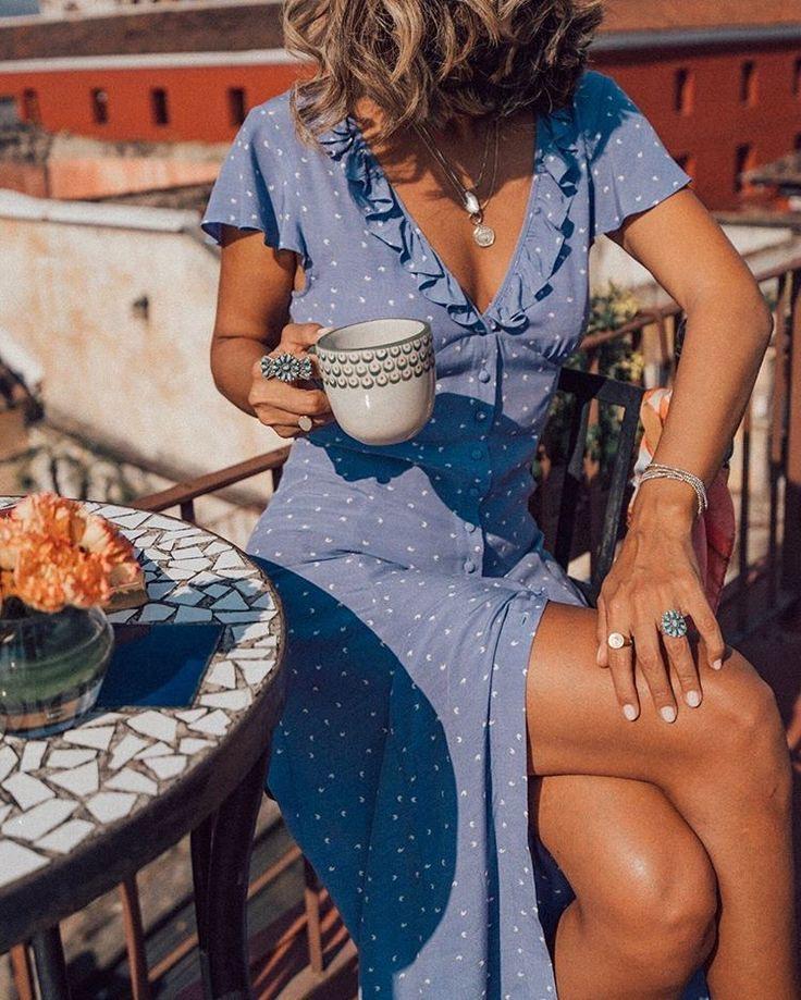 vestidos largos de verano con lunares - vestido tela fresca