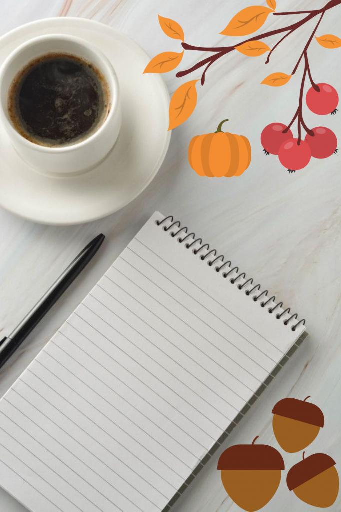 Fondos de otoño para escribir